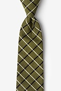 Olive Cotton Tuscon Extra Long Tie