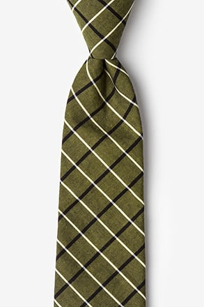 _Tuscon Olive Extra Long Tie_