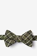 Olive Cotton Tuscon Self-Tie Bow Tie