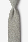 Olive Cotton Westminster Extra Long Tie