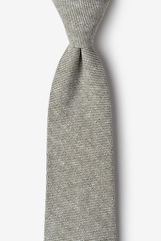 Westminster Olive Extra Long Tie Photo (0)