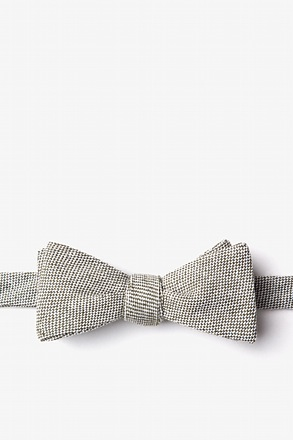 Westminster Olive Skinny Bow Tie