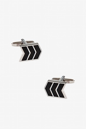 Sideways Chevron Cufflinks