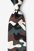 Camouflage Extra Long Tie Photo (0)