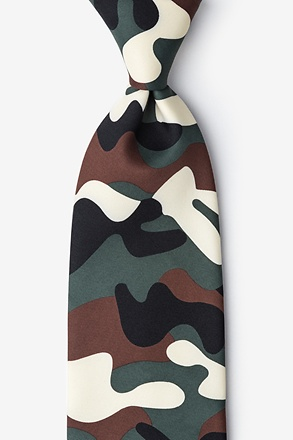 Camouflage Extra Long Tie
