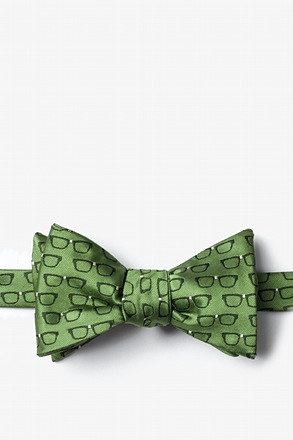 _Four Eyes Olive Self-Tie Bow Tie_
