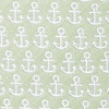 Olive Microfiber Small Anchors Extra Long Tie