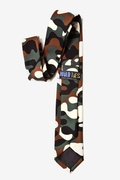 Camouflage Olive Tie For Boys Photo (1)