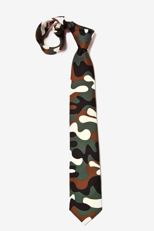Camouflage Tie For Boys