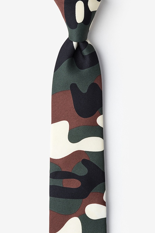 Camouflage Olive Tie For Boys Photo (0)