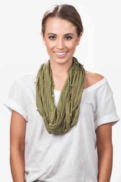 Maven Olive Infinity Scarf