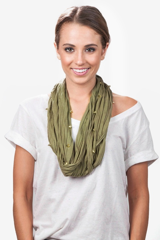 Maven Olive Infinity Scarf by Scarves.com