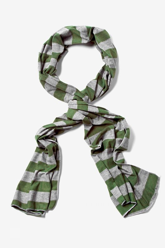 Mens Caravan Stripe Olive Scarf Photo (0)