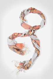 Orange Acrylic Giant Flower Scarf