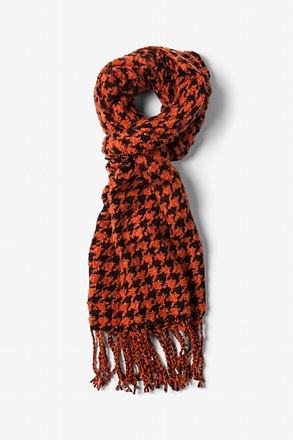Orange Berlin Houndstooth Scarf