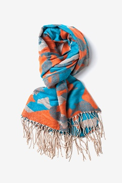 Orange Montreal Camo Scarf
