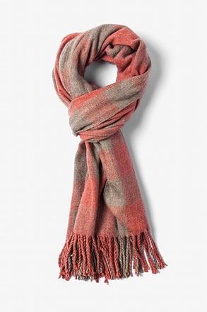 Orange Syracuse Fringed Scarf