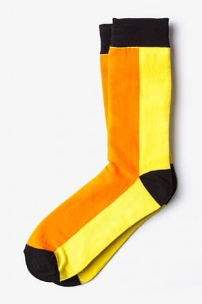 _Fullerton Split Orange Sock_