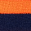 Orange Carded Cotton Rugby Stripe Sock