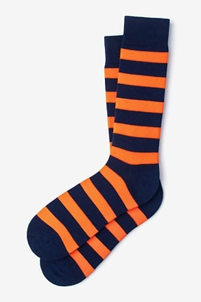 Rugby Stripe Orange Sock