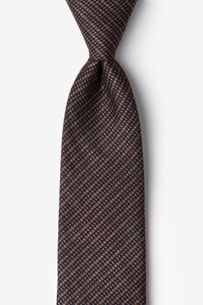 _Gilbert Orange Extra Long Tie_