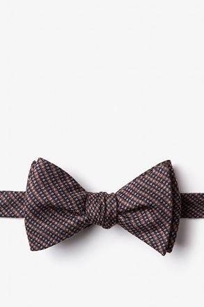 _Gilbert Orange Self-Tie Bow Tie_