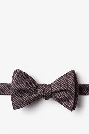 Gilbert Orange Self-Tie Bow Tie