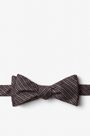 Gilbert Orange Skinny Bow Tie