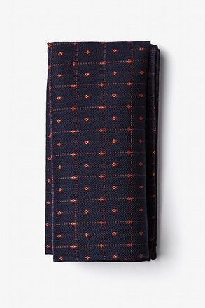 Gresham Orange Pocket Square