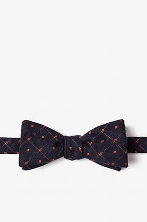 Gresham Orange Skinny Bow Tie