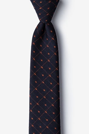 _Gresham Orange Skinny Tie_