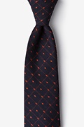 Orange Cotton Gresham Tie