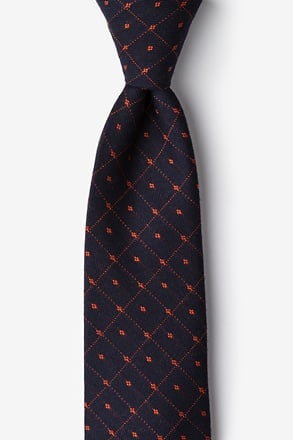 Gresham Orange Tie