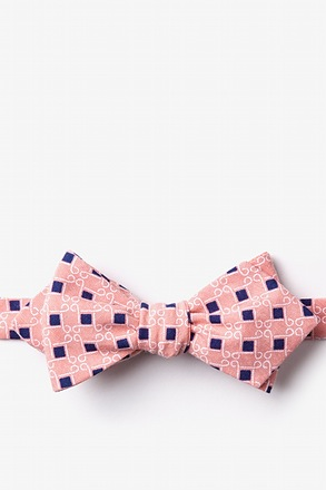 Jamaica Orange Diamond Tip Bow Tie