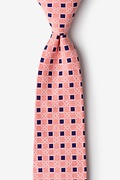 Orange Cotton Jamaica Extra Long Tie