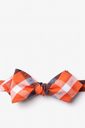 _Kennewick Orange Diamond Tip Bow Tie_