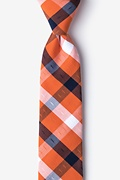 Orange Cotton Kennewick Skinny Tie