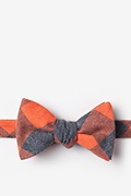 Orange Cotton Kent Butterfly Bow Tie