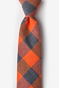 Orange Cotton Kent Extra Long Tie