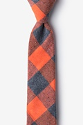 Orange Cotton Kent Skinny Tie