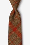 Orange Cotton Kirkland Extra Long Tie
