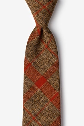 _Kirkland Orange Extra Long Tie_