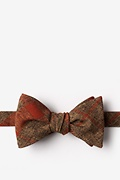 Orange Cotton Kirkland Self-Tie Bow Tie