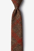 Orange Cotton Kirkland Skinny Tie