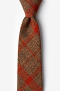 Orange Cotton Kirkland Tie