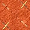 Orange Cotton La Mesa Diamond Tip Bow Tie