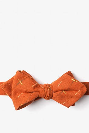 La Mesa Orange Diamond Tip Bow Tie