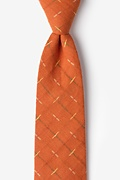 Orange Cotton La Mesa Extra Long Tie