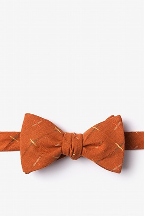 _La Mesa Orange Self-Tie Bow Tie_