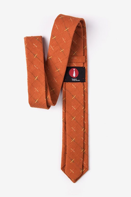 La Mesa Orange Skinny Tie